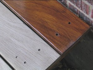 Before and after UV Plus for Hardwood Decks