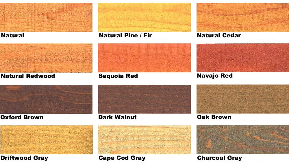 UV Plus Wood Stain Colors
