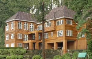 Stain wood siding with Messmers UV Plus